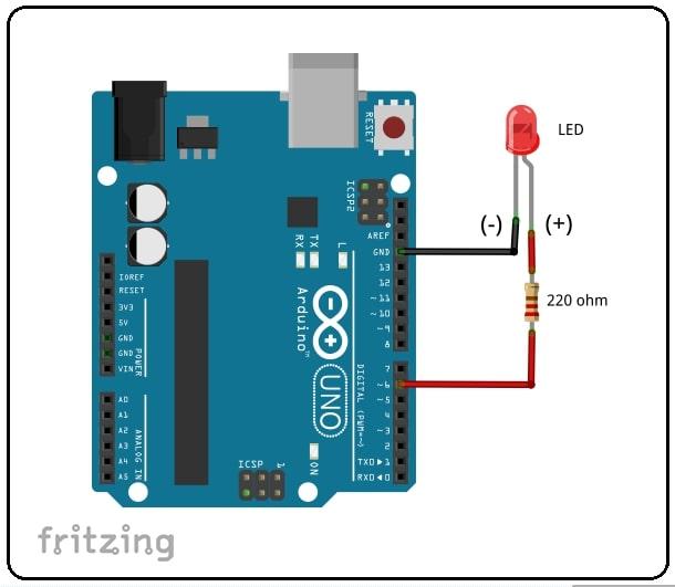 LED Fading using Arduino circuit diagram
