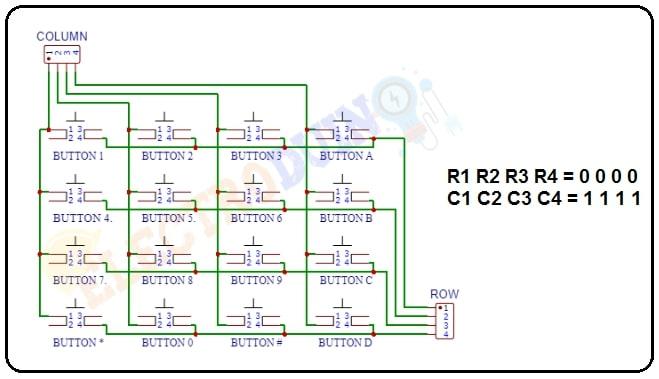 4x4 Keypad Module Circuit Works