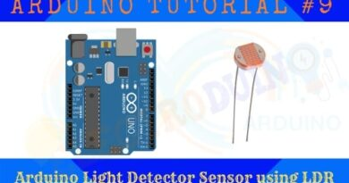 Arduino Light Detector Sensor using LDR.