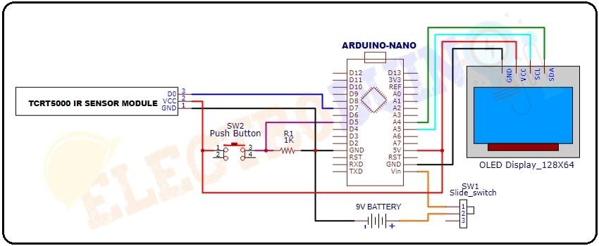 Digital Tachometer (RPM Meter) using IR sensor, Display and Arduino Circuit