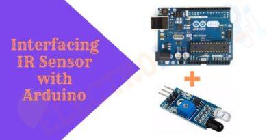 Interfacing IR Sensor with Arduino