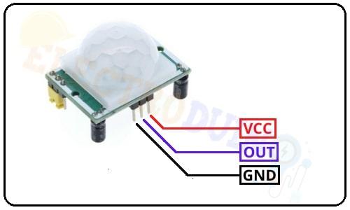 Passive infrared sensor or PIR Sensor Module Pin Diagram/ Pinout/ Pin Configuration