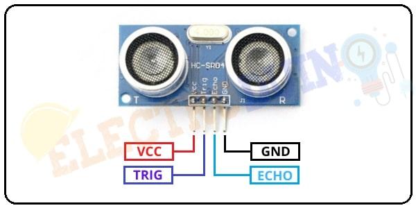 Ultrasonic Sensor HC-SR04 Pin Diagram/Pinout/Pin Configuration