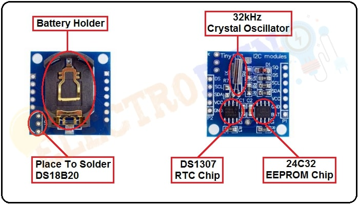 DS1302 Real Time Clock (RTC) Module Hardware Overview