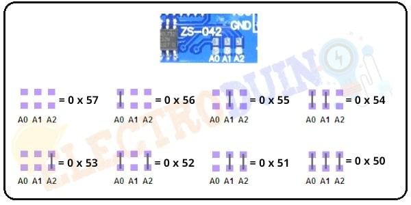DS3231 RTC Module EEPROM I2C Address Set Jumpers
