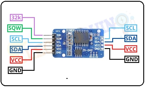 DS3231 Real Time Clock (RTC) Module Pin Diagram/Pinout/Pin Configuration