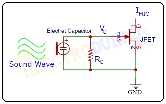 Electret Microphone internal circuit structure