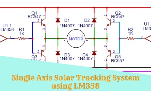 Single Axis Solar Tracking System Using LM358