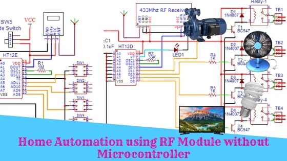 Home Automation using RF Module without Microcontroller