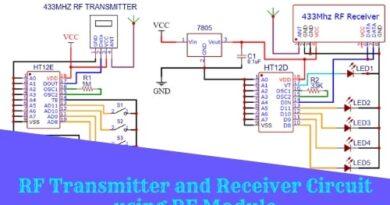 RF Transmitter and Receiver Circuit using RF Module