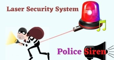 Laser Security System with Police Siren