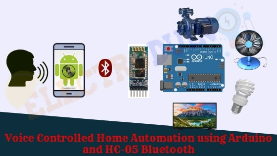 Voice Controlled Home Automation using Arduino and HC-05 Bluetooth