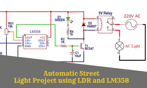 Automatic Street Light Project using LED andLM358