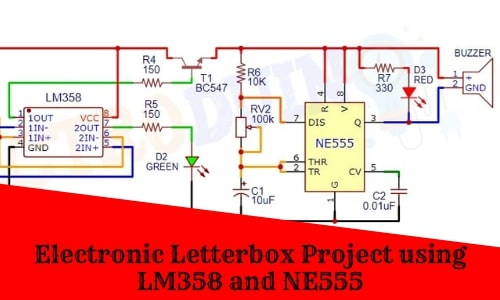 Electronic Letterbox Project using LM358 and NE555