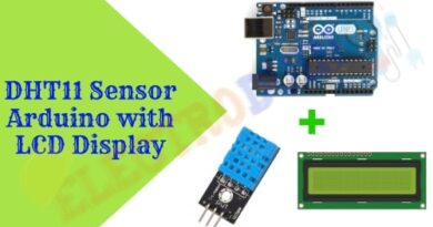 DHT11 Temperature and Humidity Sensor Arduino Code with LCD Display