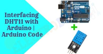 Interfacing DHT11 with Arduino, DHT11 Temperature and Humidity sensor Module Arduino Code