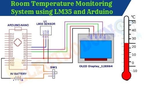 Room temperature monitoring system/Device using LM35 Temperature Sensor and Arduino