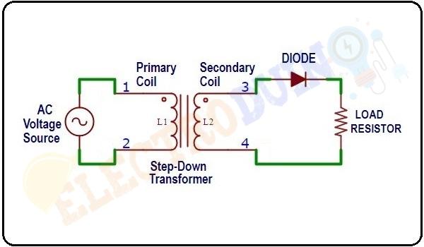 Circuit Diagram of Positive Half-Wave Rectifiers