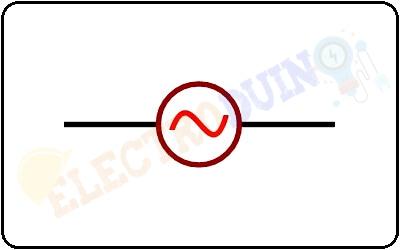 Alternating Voltage Source Symbol